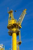 Crane operation on the platform, transfer cargo or heavy lift on work site