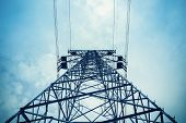 Upward View Of The Power Transmission Tower