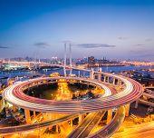 Colorful Bridge In Shanghai Nanpu