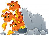 Dragon topic image 7 - eps10 vector illustration.