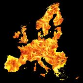 image of inflamed  - a europe plant flame in black background - JPG