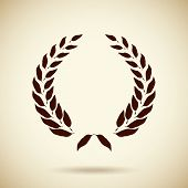 Vector circular laurel wreath