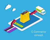 E-commerce or internet shopping concept