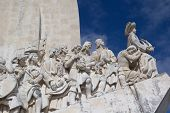 LISBON, PORTUGAL - MAY 28, 2014: Close up of the Monument to the Discoveries in Lisbon. The monument