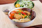 stock photo of rice noodles  - BUN RIEU  - JPG