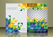 Vector brochure or magazine cover  template  in Brazil flag concept