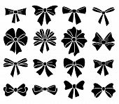 stock photo of bowing  - vector collection of bows on white background - JPG