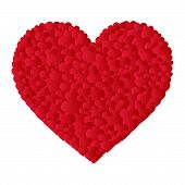 vector heart made of small hearts