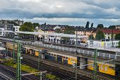 Commuter Rail Platform Frankfort Germany