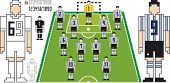 Vector Illustration of Tactical Kit of Argentine Soccer Team