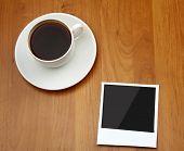 Photo and cup of coffee