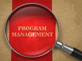 Program Management Concept Through Magnifying Glass.