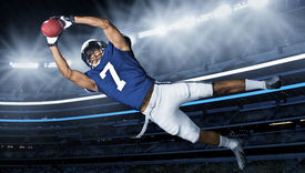 stock photo of incredible  - American Football Touchdown Catch - JPG