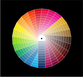 stock photo of color wheel  - a color guide - JPG