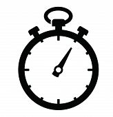 foto of stopwatch  - vector black Stopwatch icon set on white - JPG