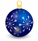 blue vector christmas ball