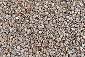 Full Frame of Gravel Stones Ideal for Backgrounds