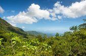 Fantastic View at Morne Seychellois National Park on Mahe Island, Seychelles