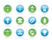 Vector Power, energy and electricity icons