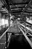 Old Conveyor Belt In An Abandoned Mill