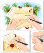 stock photo of letters to santa claus  -  Letter to Santa Claus - JPG