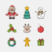 Vector Christmas set icons