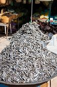 Dry Fish In The Market In Tunisia