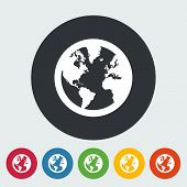 Earth flat icon.