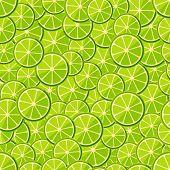 Seamless pattern chopped lime