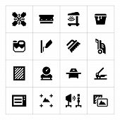 picture of silkscreening  - Set icons of screen printing isolated on white - JPG
