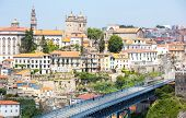 Dom Luiz bridge in Porto Cityscape Portugal