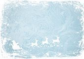 Santa Claus, deers on the winter background blue patterns.vetor background