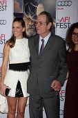 LOS ANGELES - NOV 11:  Hilary Swank, Tommy Lee Jones at the