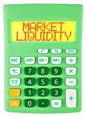 Calculator With Market Liquidity Isolated