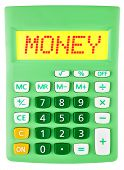 Calculator With Money On Display