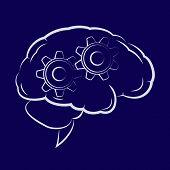 Symbol Of The Cogwheels Inside Human Brain