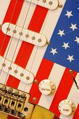 electric guitar American flag details