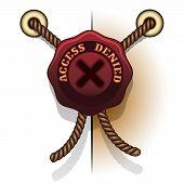 access denied prohibition seal icon