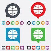 Basketball sign icon. Sport symbol.