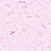 Seamless Pattern With Number One