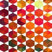 Pattern of geometric shapes. Triangles.Geometric background. Copy that square to the side, the resul