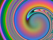 Rainbow Colored Abstract Spiral Image