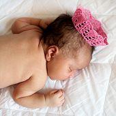 Black Newborn Baby Princess Sleeping