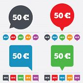 50 Euro sign icon. EUR currency symbol.