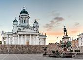 Helsinki Cathedral On Sunrise