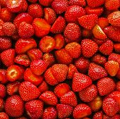 Strawberries Background.