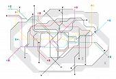 Subway map, a network of underground