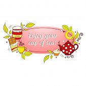 Tea and sweets label