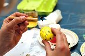 stock photo of wax  - Easter painting - JPG