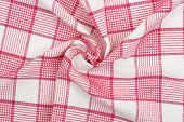 foto of twist  - closeup of twisted kitchen napkin for backgrounds - JPG